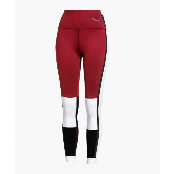 Image for SG X Burgundy & white sports leggings