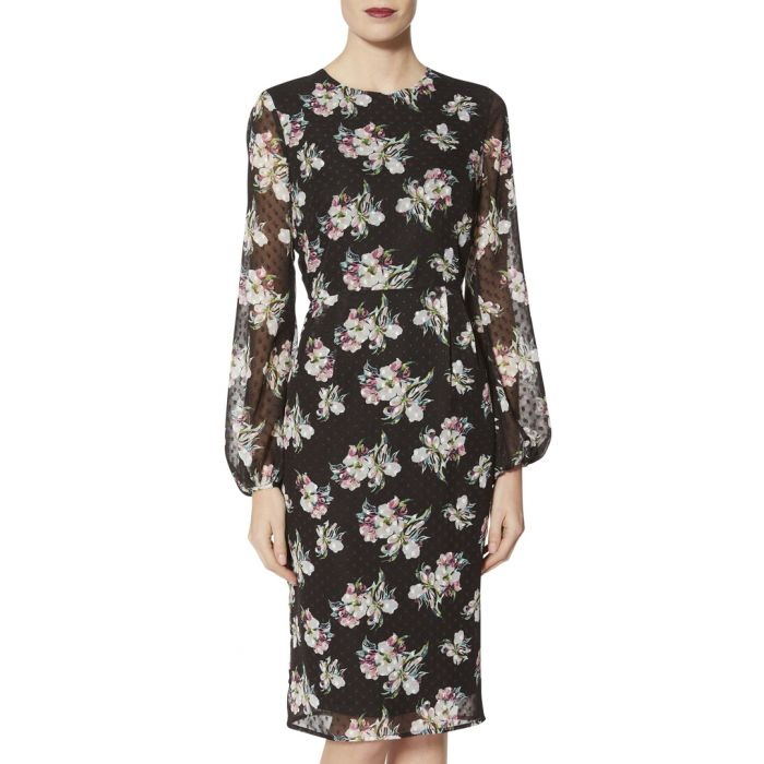 Image for Malwina floral print chiffon dress