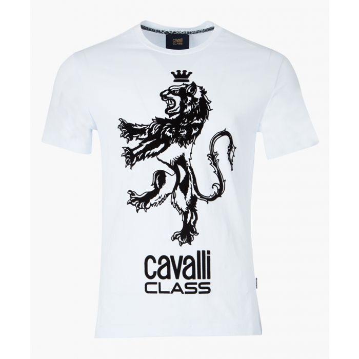 Image for White lion printed logo T-shirt