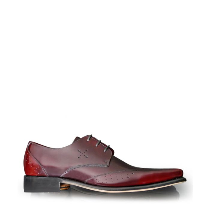 Image for Hemmings Blow Up damson leather shoes