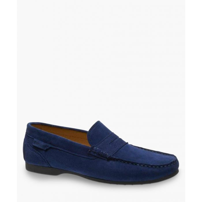 Image for Trenton Penny blue suede loafers