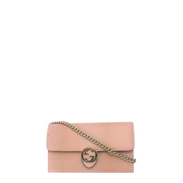 Image for Dusty pink leather crossbody
