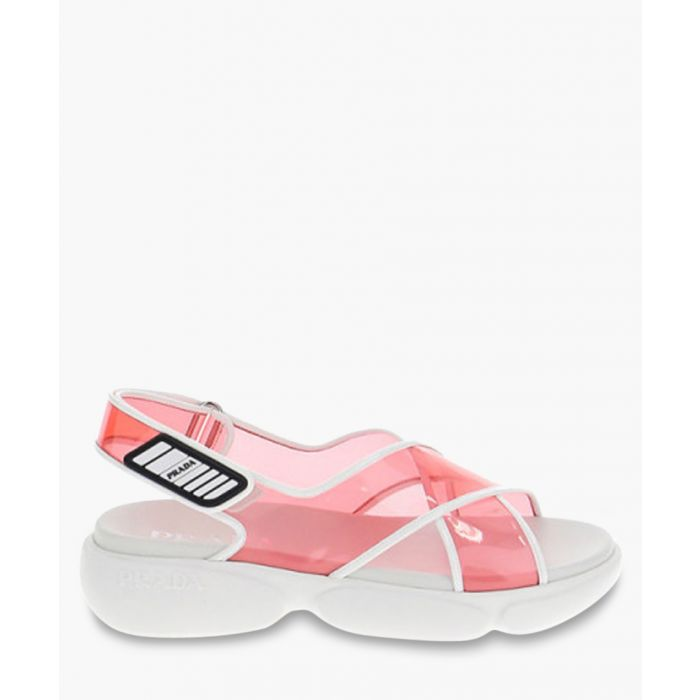 Image for Cloudbust pink PVC open-toe sandals