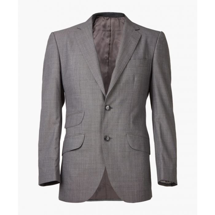 Image for Grey pure wool long sleeve blazer