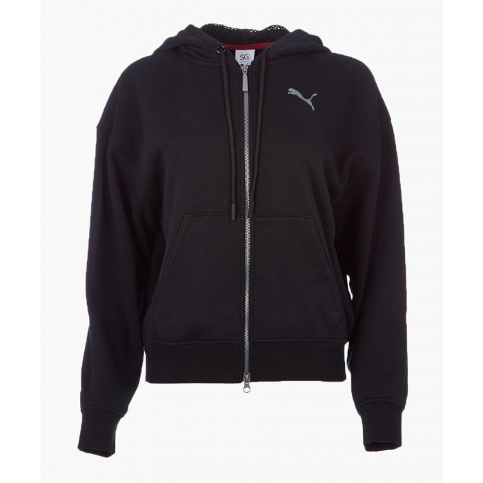 Image for x SG FZ black cotton stretch hoodie