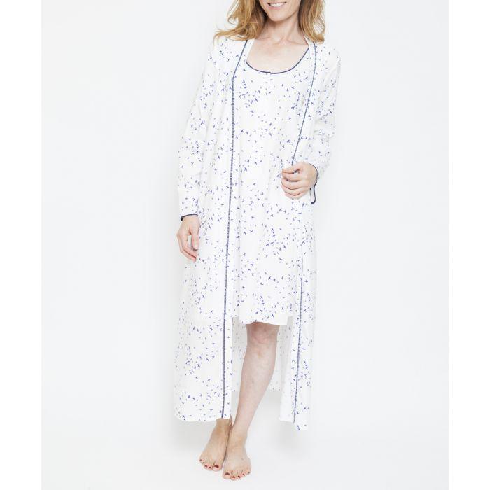 Image for Adele white bird print kimono