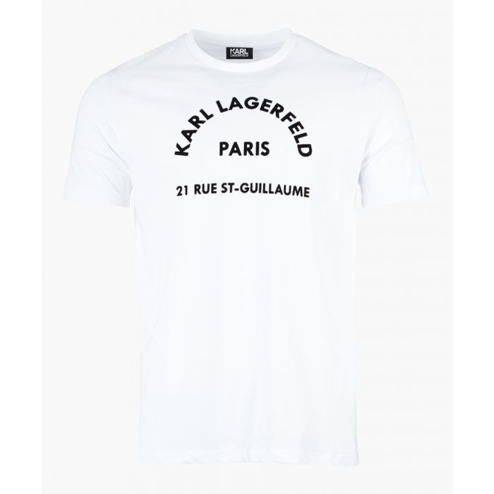 Image for White logo slogan printed T-shirt