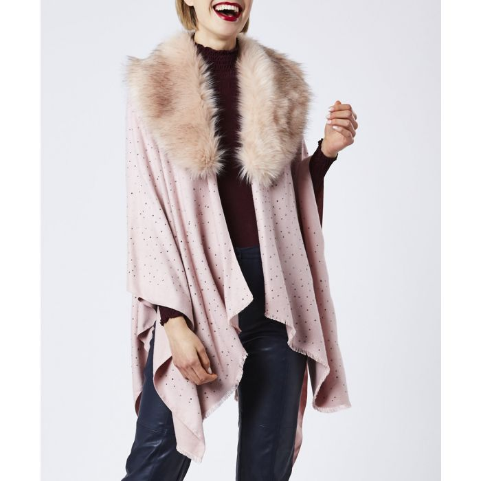 Image for Pink cashmere & silk blend wrap