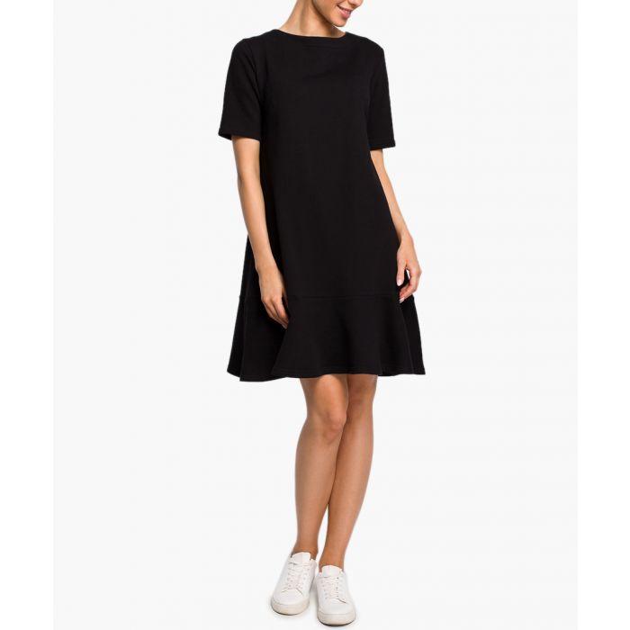 Image for Black tie-back dress