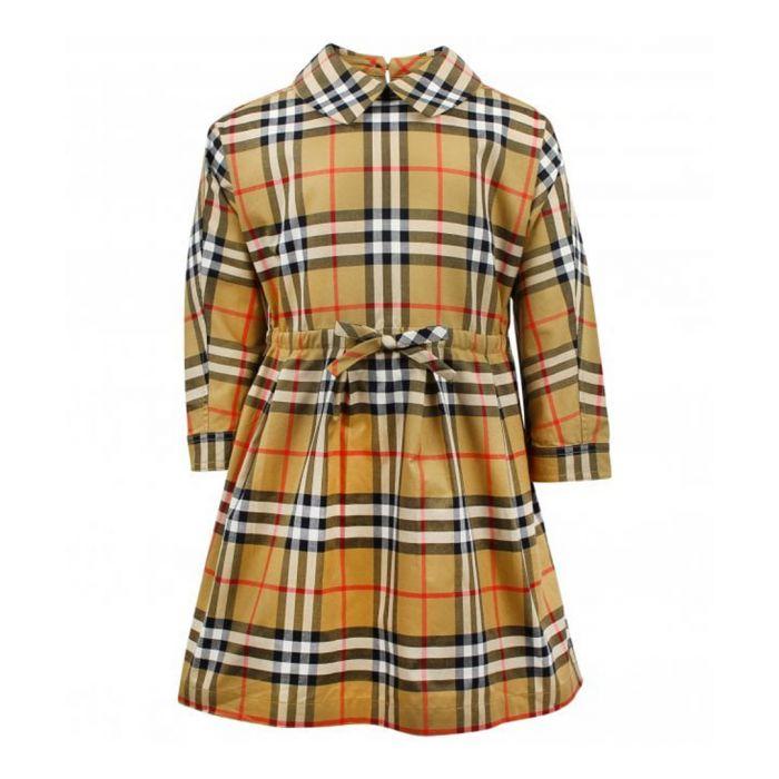 Image for Burberry Multi-colour pure cotton check dress