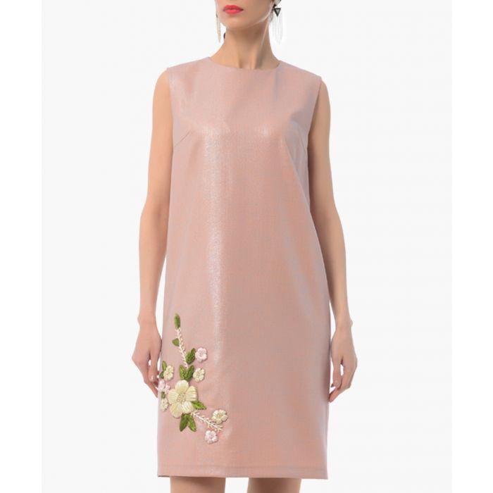 Image for rose floral cotton blend shift dress