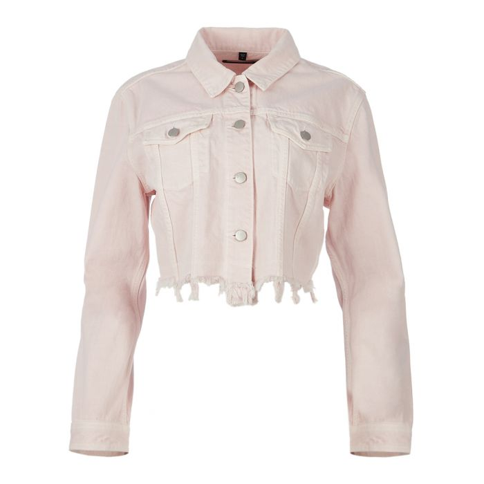 Image for Faded Pandora cropped cotton jacket