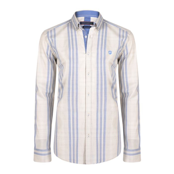 Image for Navy pure cotton long sleeve shirt