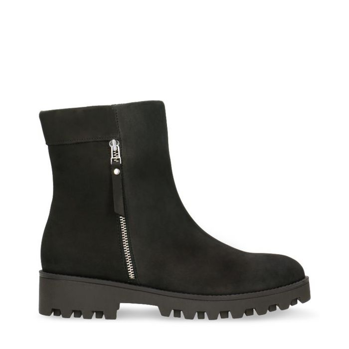 Image for Black nubuck ankle boots