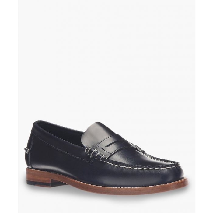 Image for Legacy Penny Navy blue leather loafers