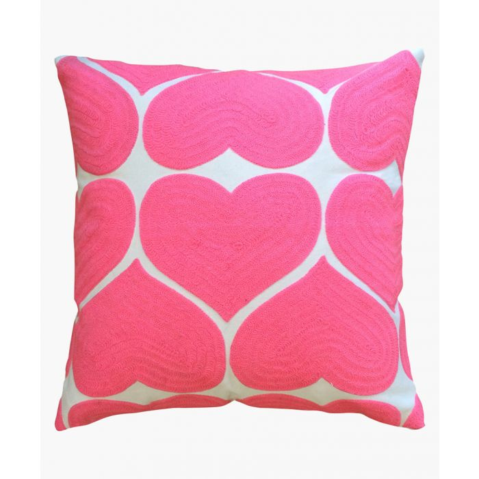 Image for Heart printed cotton cushion