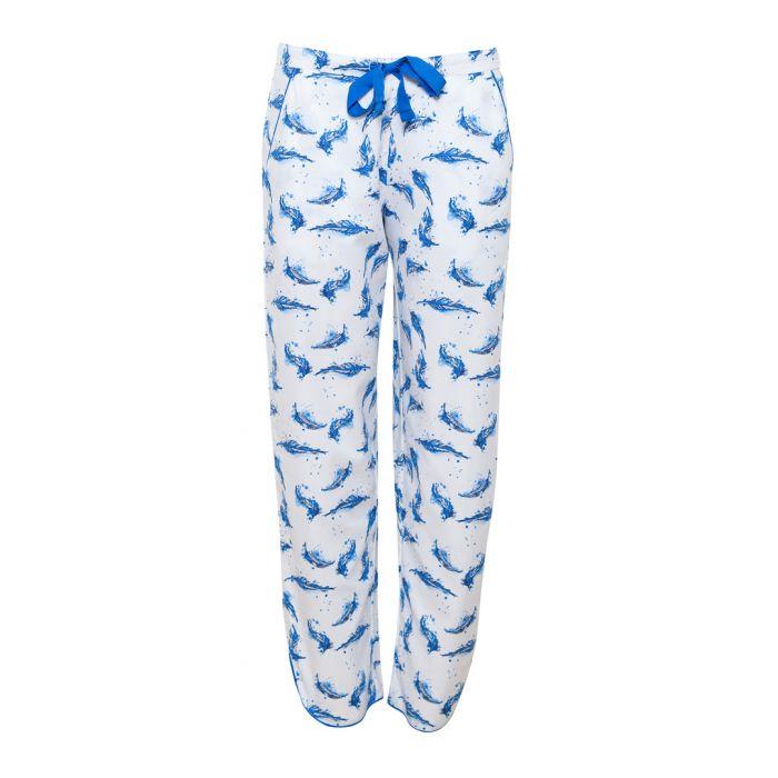 Image for Amelia blue feather pyjama bottoms