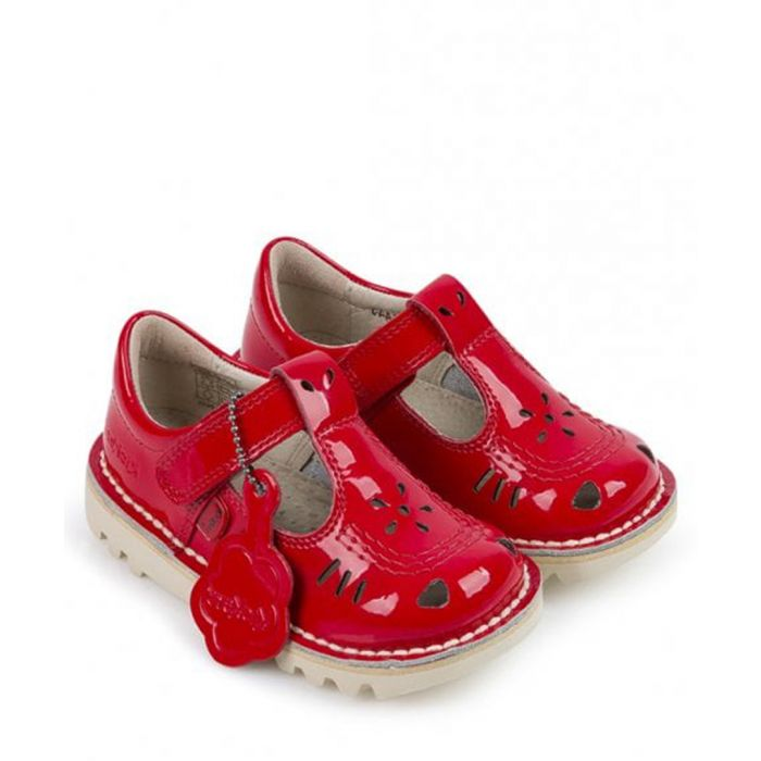Image for Kick T-vel red leather sandals