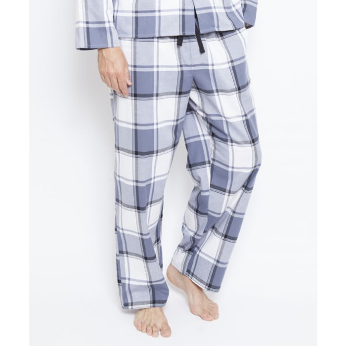Image for Aspen grey checked pyjama trousers