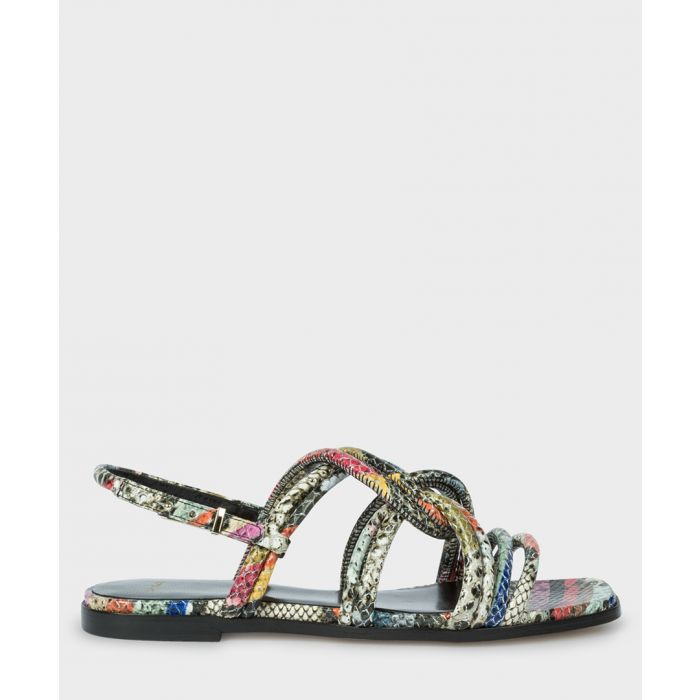 Image for Multi-coloured snake-effect sandals