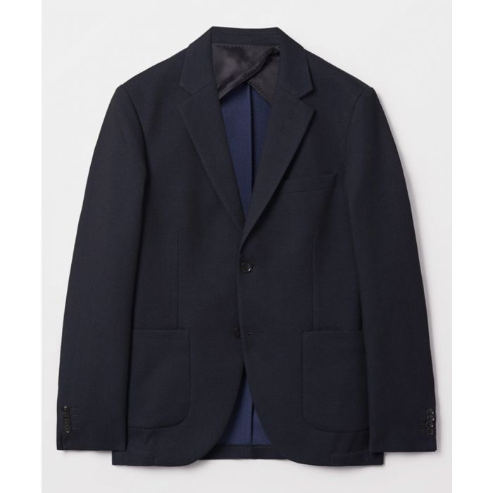 Image for Navy pure cotton blazer