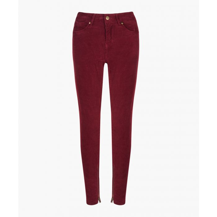 Image for Audrey Corded Black Cherry skinny jeans