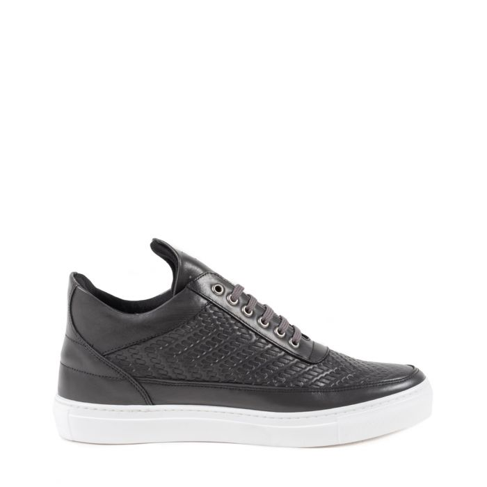 Image for dark grey  leather trainers