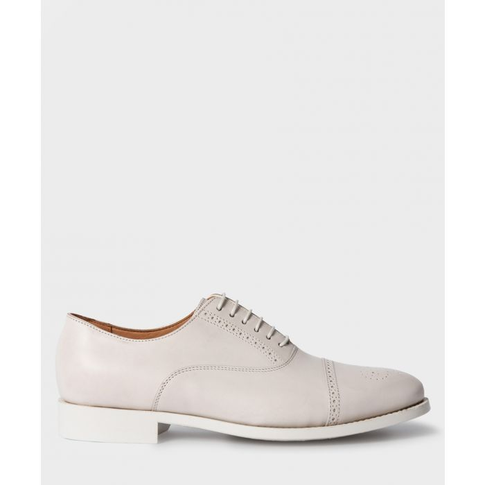 Image for Quiet white leather derby shoes