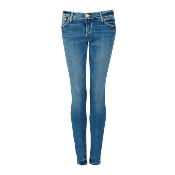 Image for Blue cotton blend skinny jeans