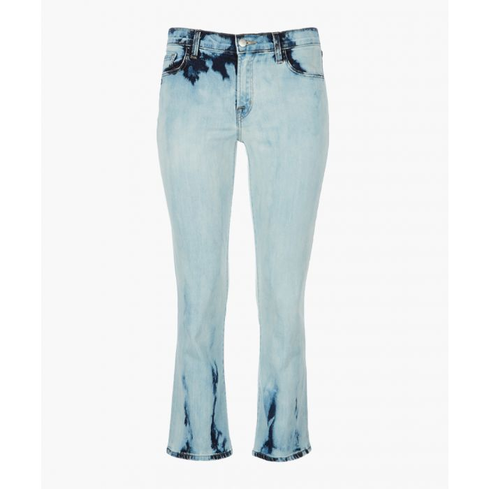 Image for Selene mid-rise cropped bootcut jeans