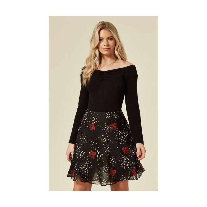 Image for Waterfall Off the Shoulder Mini Dress