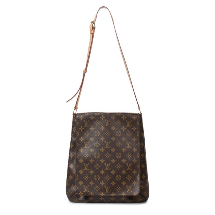 Image for Musette brown canvas monogram bag