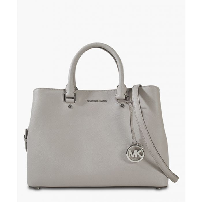 Image for Savannah large grey leather satchel bag