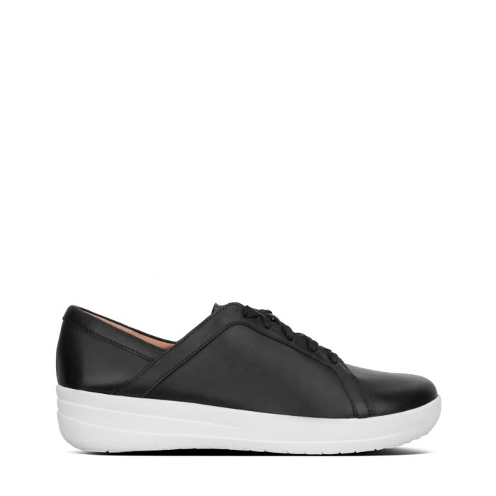 Image for F-Sporty II black leather trainers