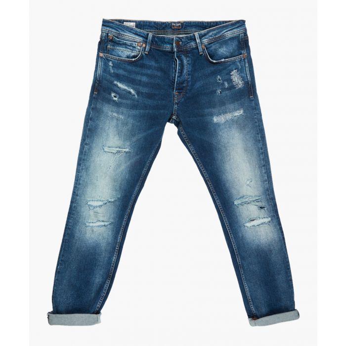 Image for Blue distressed denim jeans