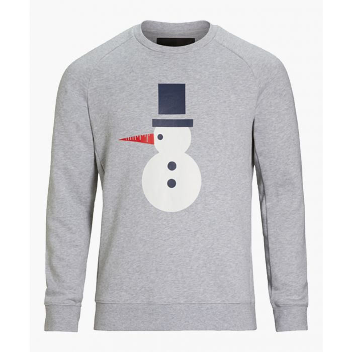 Image for Light grey pure cotton print jumper
