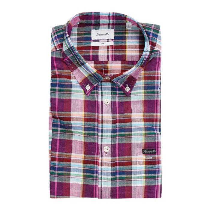 Image for Club multi-coloured tartan shirt