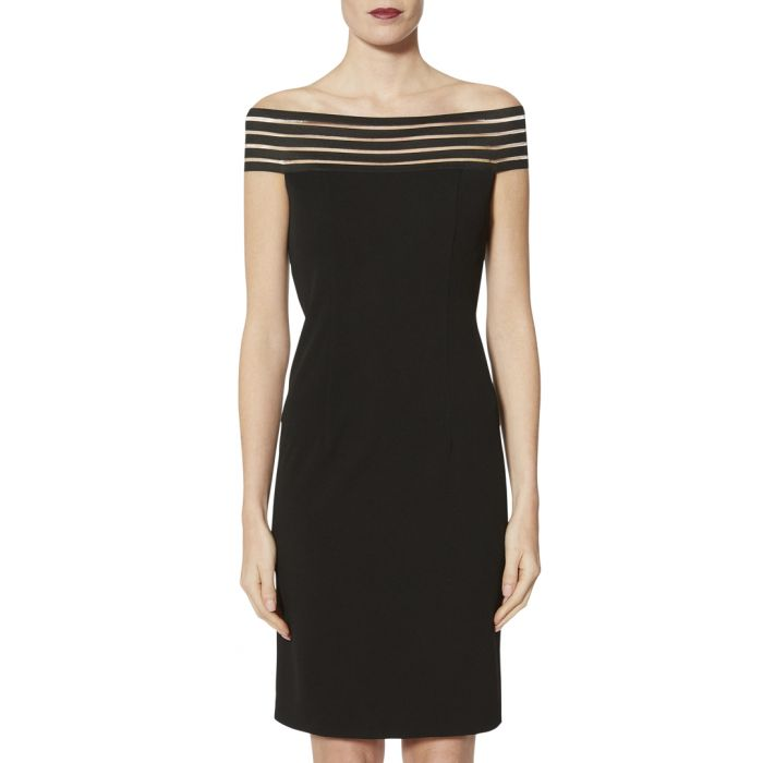 Image for Lara black off-the-shoulder dress