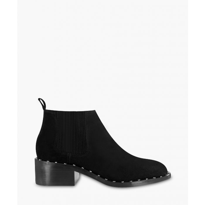 Image for Darcy II black suede studded ankle boots