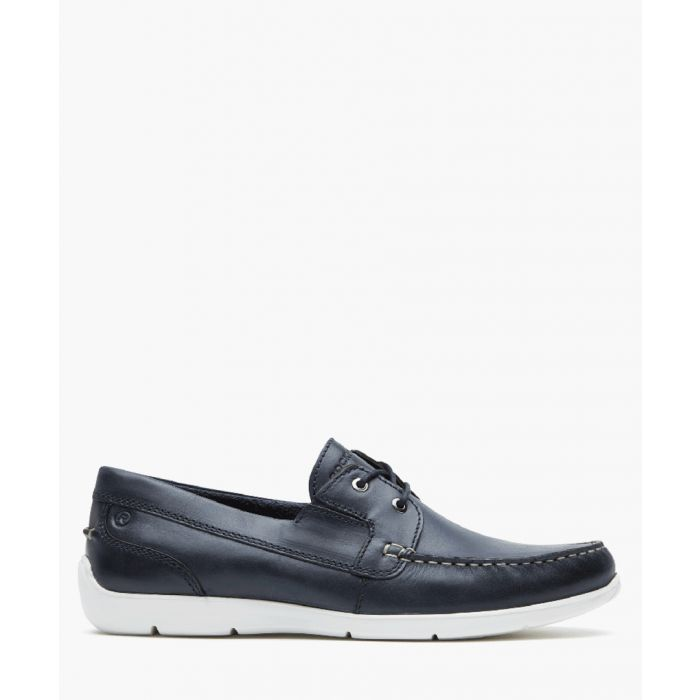 Image for Cullen black leather boat shoes