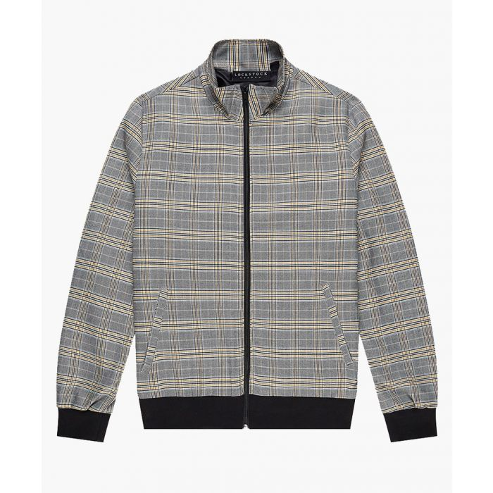 Image for Harrington grey check slim jacket