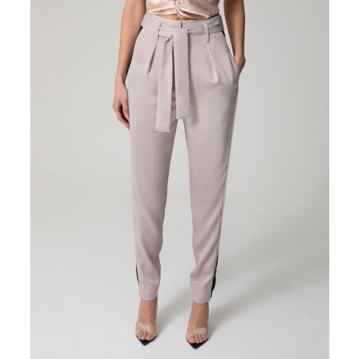 Image for Safiya grey tie-waist trousers