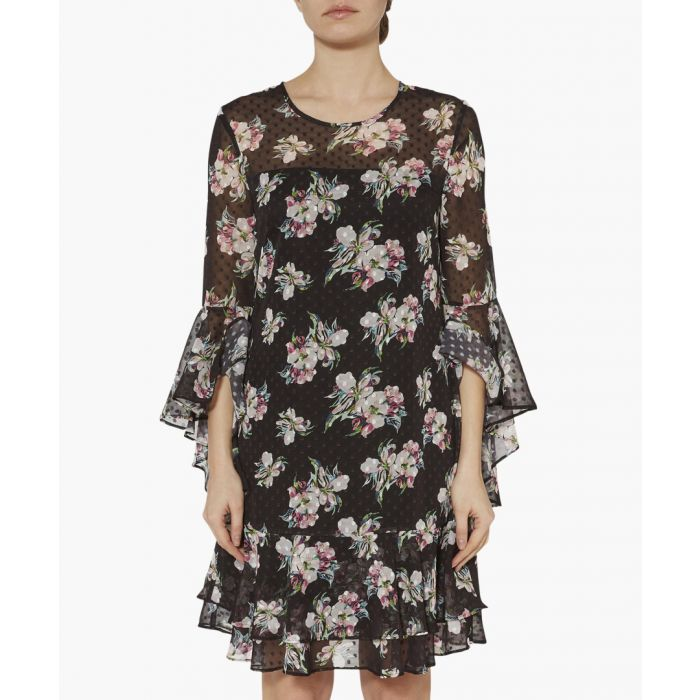 Image for Layton floral print chiffon dress