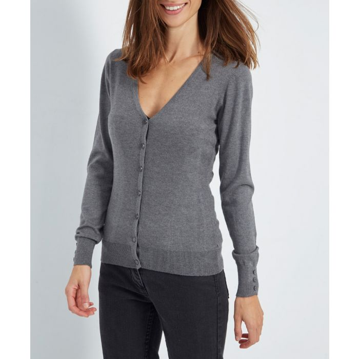 Image for Wolf grey cashmere blend cardigan