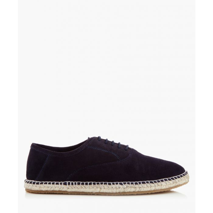 Image for Redhill navy suede lace-up espadrilles