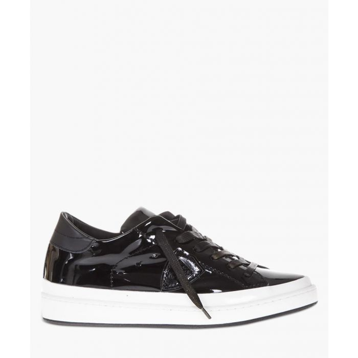 Image for Patent black leather low-top sneakers