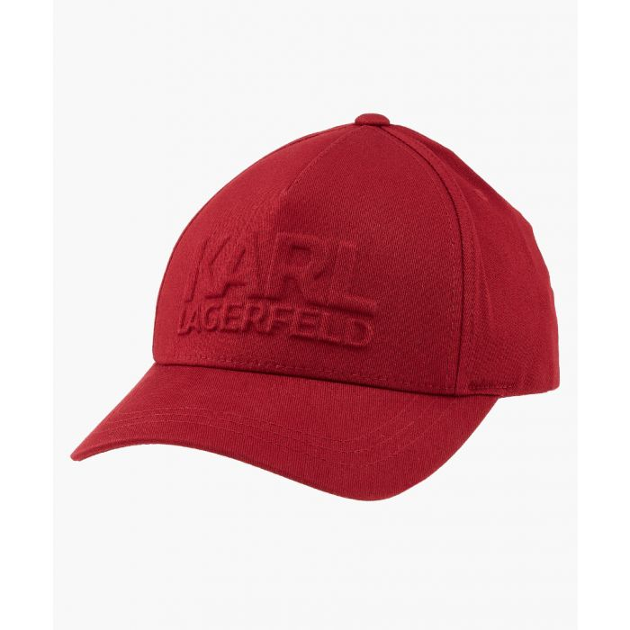 Image for Red cotton logo hat