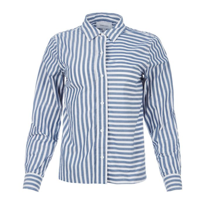 Image for The Des Stripe blue lagoon shirt