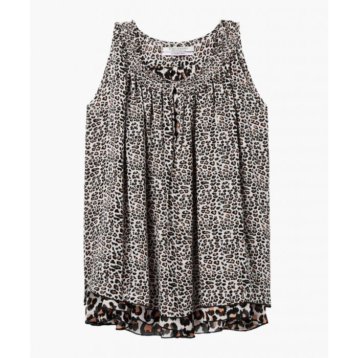 Image for Leopard print sleeveless blouse