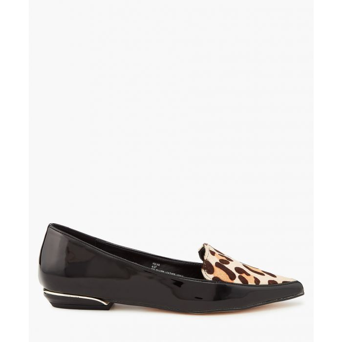 Image for Leopard print contrast pumps